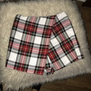 Topshop plaid skirt/shorts